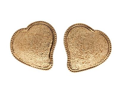 Yves Saint Laurent Vintage Heart Earrings