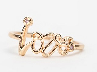 Urban Outfitters Aloha Love Ring