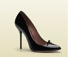 Gucci Gucci Beverly Patent Leather High Heel Pumps