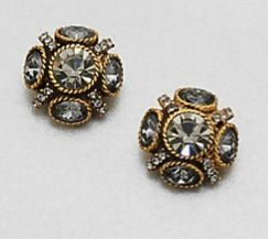Oscar de la Renta Oscar de la Renta Faceted Cluster Stud Earrings