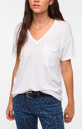 Truly Madly  Style Stalker Truly Madly Deeply V-Neck Pocket Tee