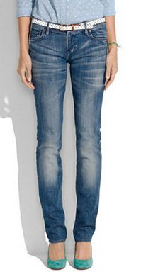 Madewell Style Stalker Madewell Rail Straight Jeans in Dusty Blue Wash