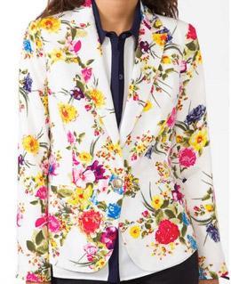 Forever 21 Style Stalker Forever 21 Floral Print Blazer