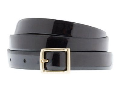 J. Crew Style Stalker J.Crew Patent Leather Square-Buckle Belt