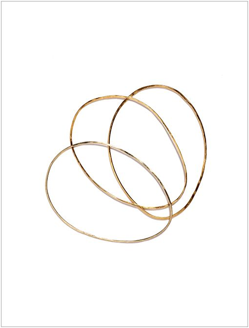 Delicate Egg Bangles ($1825) in Set of 3 Consider this collection the sophisticated big sister to the downtown darling Bing Bang. Sheffield-a 2007 CFDA Swarovski Award for Accessory Design...