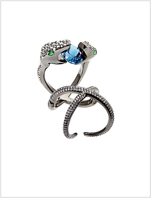 Jungle Fever Serpent Ring ($20559, 323.822.3600) Specializing in bespoke jewellery, Daniel-Philip Belevitch's contemporary designs evoke an imaginative spirit, each piece containing the brand's...