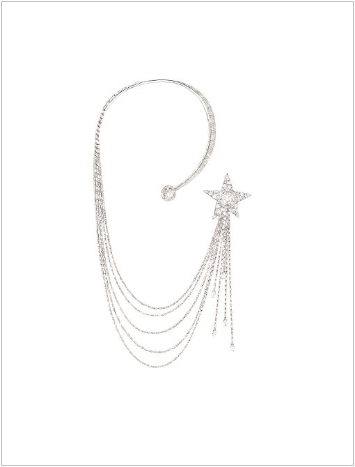 "Étoile Filante Necklace (Price Upon Request, 1800.550.0005) in 18K White GoldIn celebration of the 80th anniversary of the ""Bijoux de Diamants"" exhibition-Chanel's first-ever fine jewellery..."
