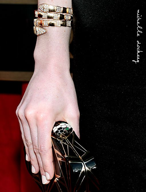 Wearing: Bulgari serpentine braceletImage courtesy of Getty Images