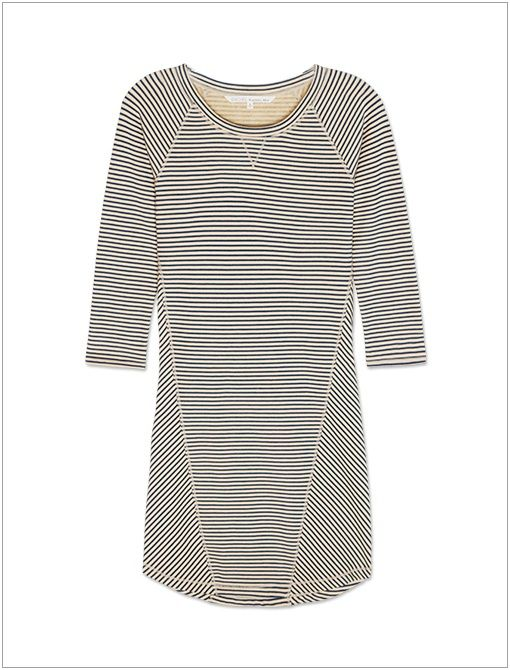 Chalk Stripe Sweatshirt Dress ($89) If jeans are out of the question, try a comfortable shirtdress instead.