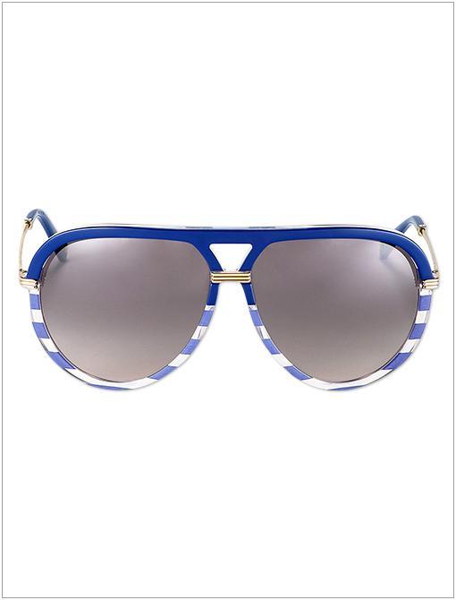 Striped Acetate Aviator Sunglasses ($325)