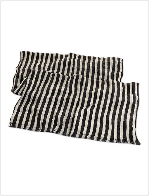 Rivoli Striped Cotton Scarf ($150)