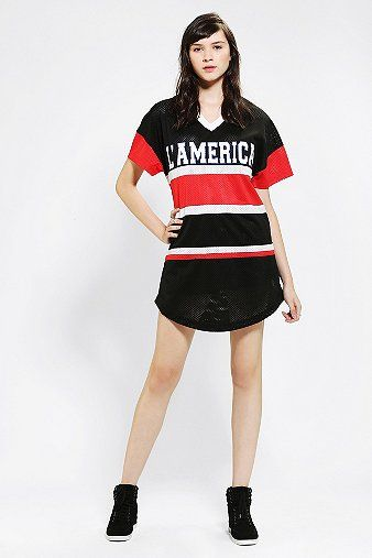 L'America  Oversized Athletic Tee Dress