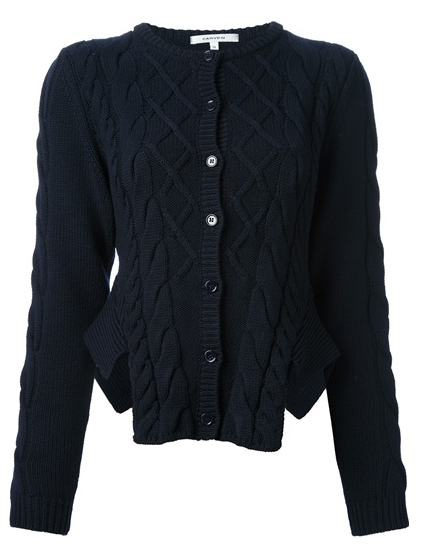 Carven  Cut Out Knit Cardigan