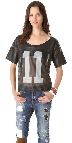 Love Leather   Leather Football Jersey