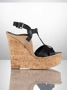 Ralph Lauren Collection  Fimesa Calfskin Wedge