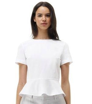 Club Monaco  Lana Peplum Shirt