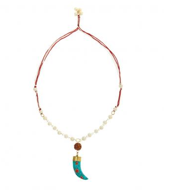 Bungalow 8 Udgita Aqua Tooth Necklace