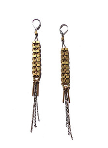 Annie Costello Brown Quadre Stacked Earrings