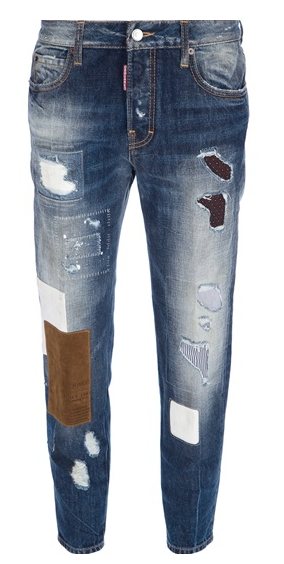 Dsquared2 Distressed Patchwork Jean