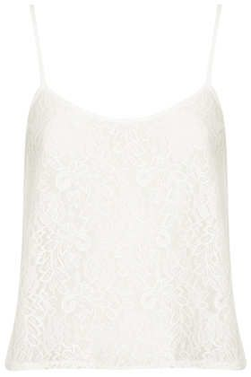 Topshop  Lace Cropped Cami