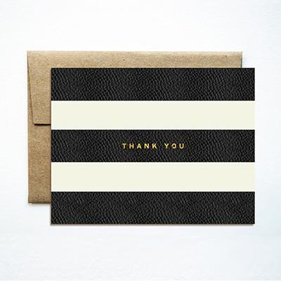 Ferme A Papier Foil Stripes Thank You Card