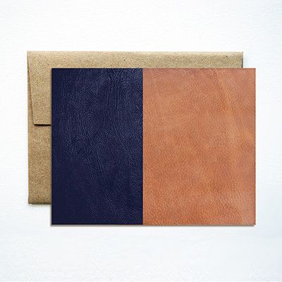 Ferme A Papier Leather Color Block Card