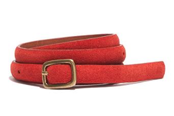 Madewell Suede Skinny Belt