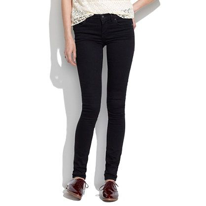 Madewell Skinny Skinny Jeans in Black Frost