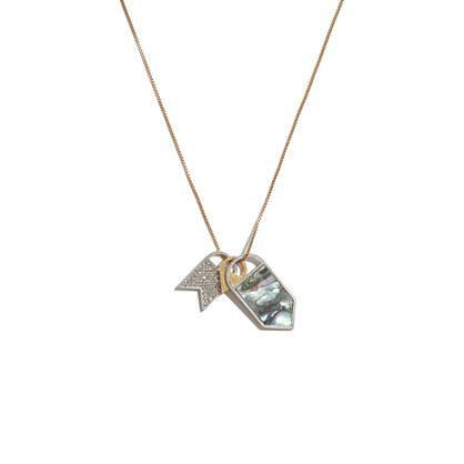 Madewell Seastone Flag Necklace