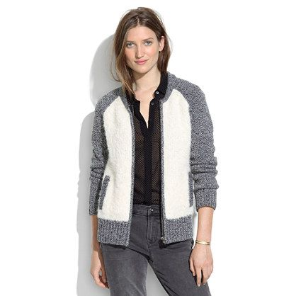 Madewell Boucle Varsity Jacket