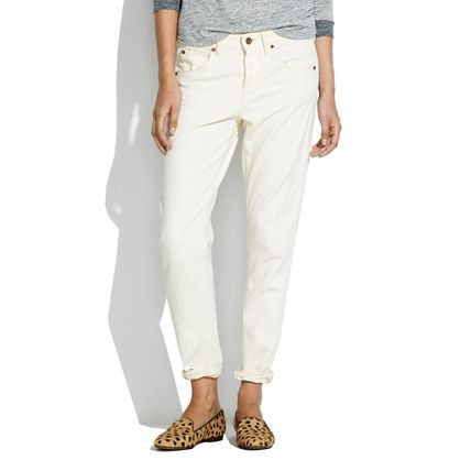Madewell The Boyjean In Linen Wash
