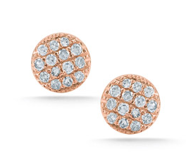 Dana Rebecca Designs  Mini Pave Diamond Studs
