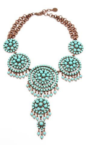 Ben-Amun  Kasbah Turquoise Large Statement Necklace