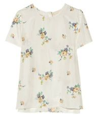 Band of Outsiders Band of Outsiders Floral Print Habotai Top