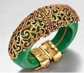 Oscar de la Renta Oscar de la Renta Filigree-Encrusted Cuff Bracelet