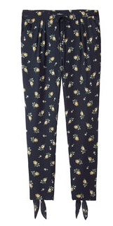 Girl by Band of Outsiders  Silk Floral Pant