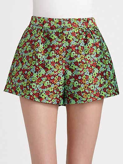 Elizabeth and James  Jody Floral Jacquard Shorts