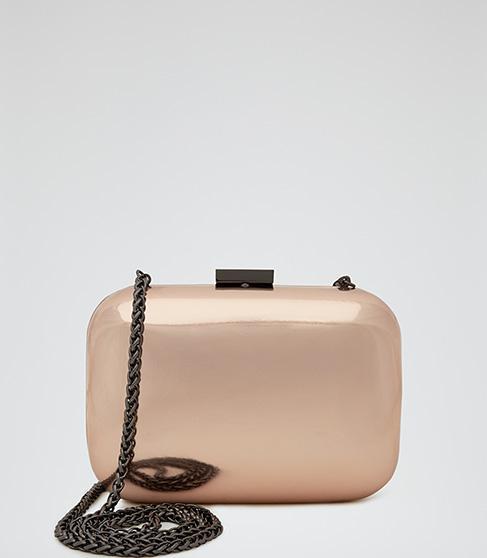 Reiss Linnia  Hard Case Clutch Bag
