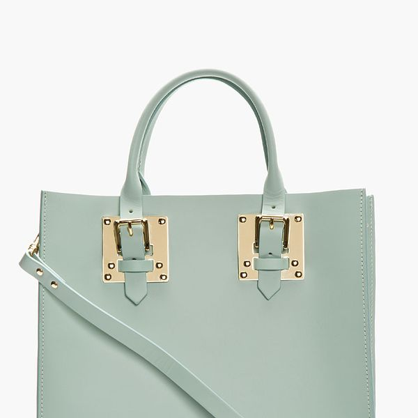 Sophie Hulme  Structured Leather Buckled Tote