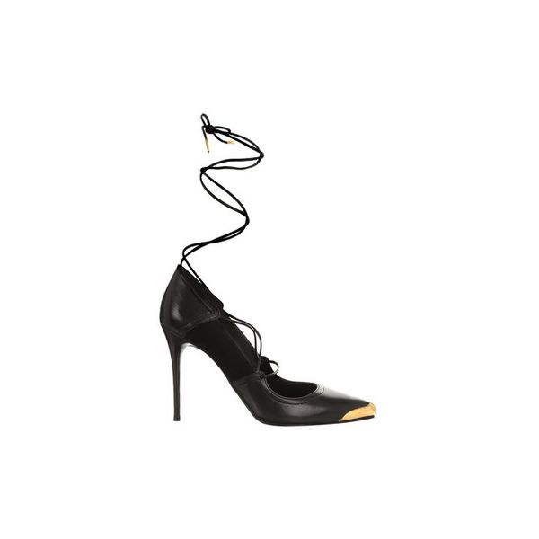 Alexander McQueen Wrap Toe-Cap Pointy Pumps