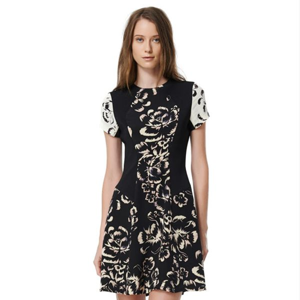 Rebecca Taylor  Artisanal Blocked Dress