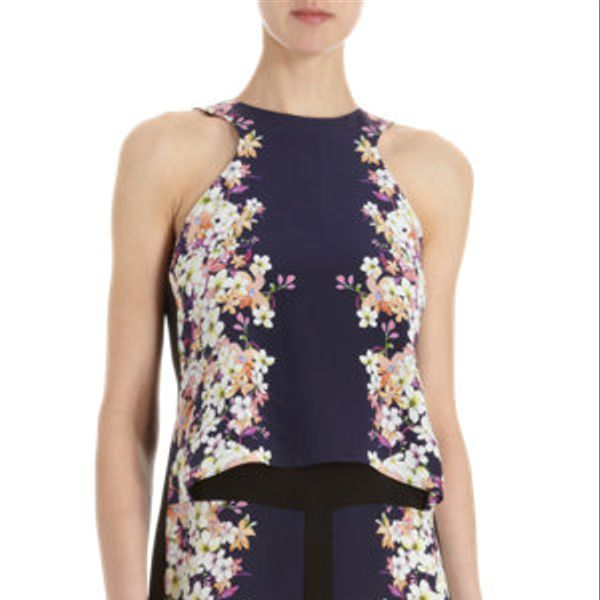 ICB  Floral Print Layered Front Tank Dress