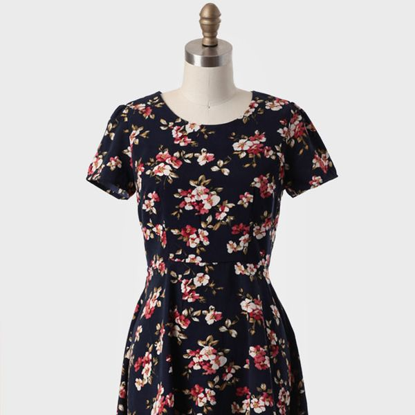 Ruche  Maiden Lane Floral Dress
