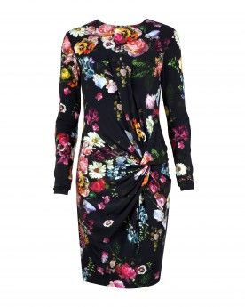 Ted Baker  Oil Painting Dress in Black