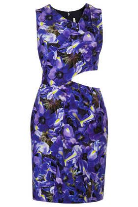 Topshop  Limited Edition Iris Print Wrap Shift Dress
