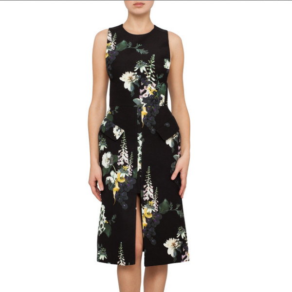 Ellery  Floral D'Artagnan Bib Dress