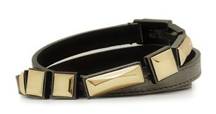 Reiss  Aurelia Stone Encrusted Belt in Gunmetal