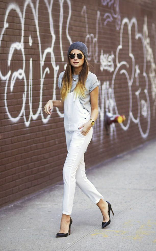 Street Style: Overalls + Pumps