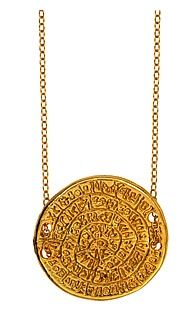 Max & Chloe  Max & Chloe Ettika Phaistos Coin Necklace