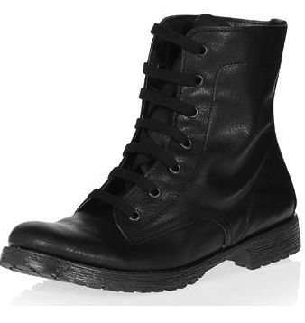 Dorothy Perkins  Black Lace Up Boots